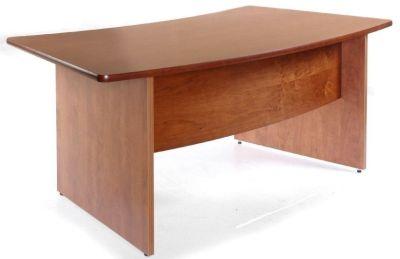 Contessa Bow Front Cherry Veneer Desk