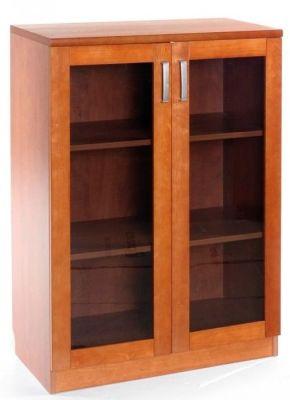 Contessa Executive Cherry Wood Glass Door Cupboard