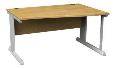 Viva Right Ahnd Wave Desk Oak