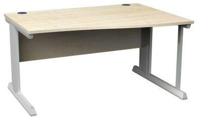 Viva Right Hand Wave Desk Maple