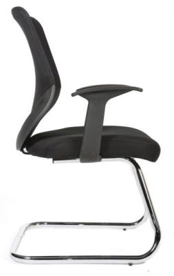 Bisoto Black Cantilever Conference Chair With Arm Rests And Chrome Frame