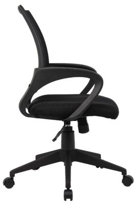 Lincoln Black Mesh Chair With Loop Arms And Curved Back Rest