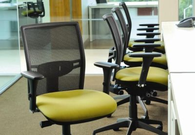 Modern Open Office With Refresh Mesh Operators Chairs