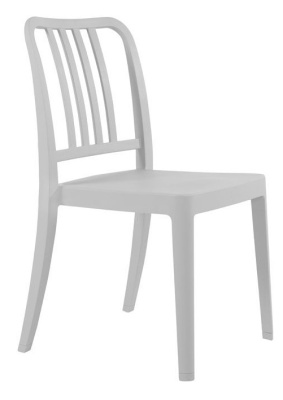 Lima Outdoor Poly Chair In Light Grey