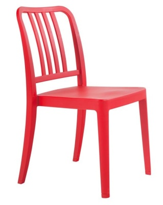Lima Outdoor Poly Chair Red