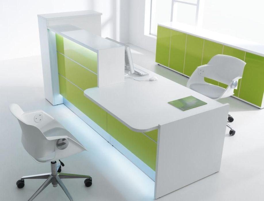Reception desk with LED Illumination Valde 2638mm wide