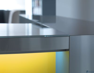 Valde Reception Desk Yellow Front Panel Detail