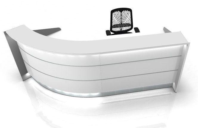 Curved Reception Desk With Side Panels Valde Online