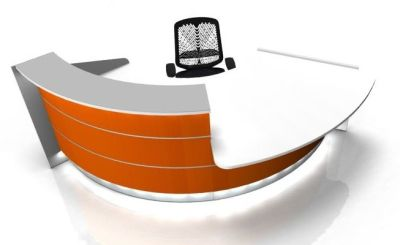Valde 60 Degree Curved Reception Desk And Wheel Chair Access Desk