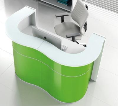 Indulge Lime Green Reception Desk