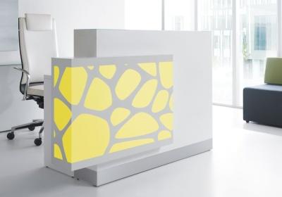 Crazy Stone Reception Desk Yellow Light