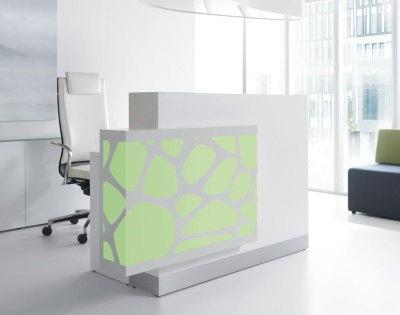 Crazy Stone Reception Desk Green Light
