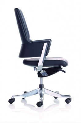 Visage Black Leather Executive Chair Side View