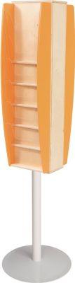 Colourway Freestanding Leaflet Dispenser Orange
