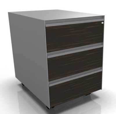 Mobile Three Drawer Pedestal