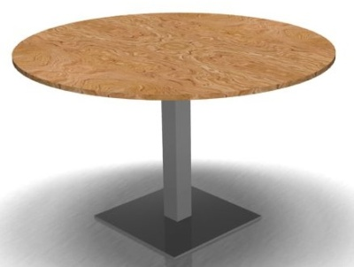 Round Meeting Table Olive