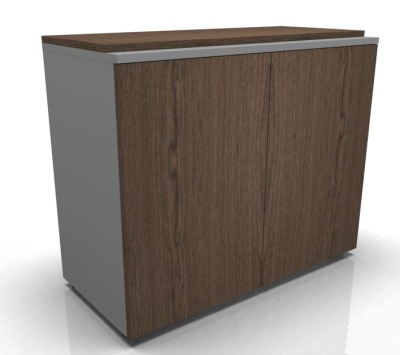 Acti Low Cupboard Walnut Doors