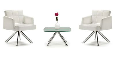 Xross Breakout Seating With Matching Frosted Glass Table