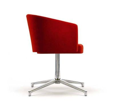 Zone B Swivel Chair In Red Fabric
