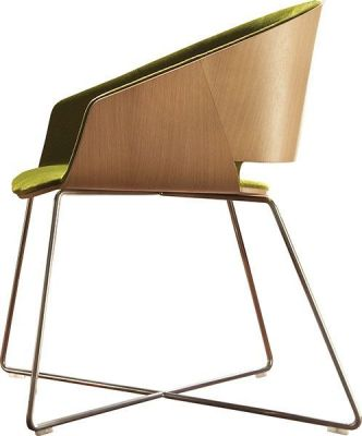 Halo Designer Chair With Wood Surround And Wire Frame