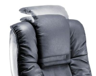 Santana Soft Feel Black Leather Managers Chair With Adjustable Head Rest