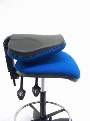 Daisy Blue Checkout Chair With Folding Back