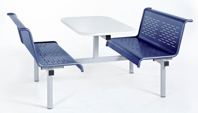 Saturn Metal Fast Food Unit With Blue Seats
