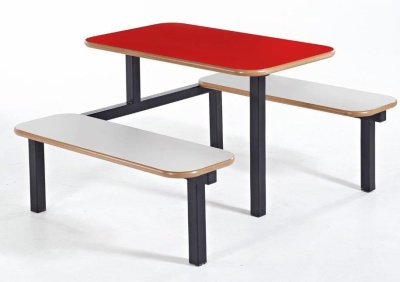 Host Four Seater Bench And Table With A Red Top