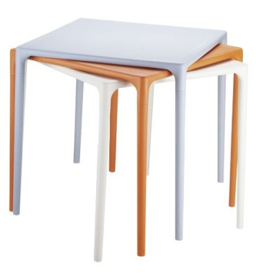 Stack Of Mango Outdoor Plastic Tables