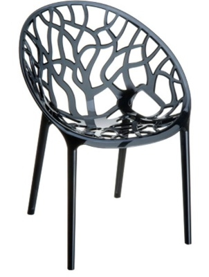 Crystal Chair Tranparent Black