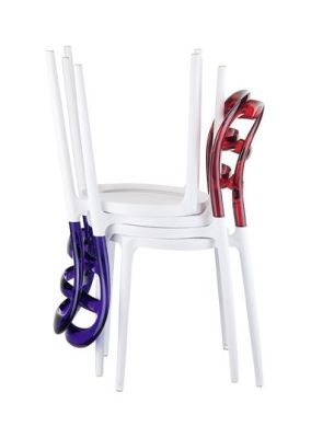 Miss Bibi Chair Red And Violet Stack