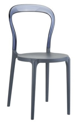 Mr Bobi Chair Anthracite Seat And Smoke Grey Back