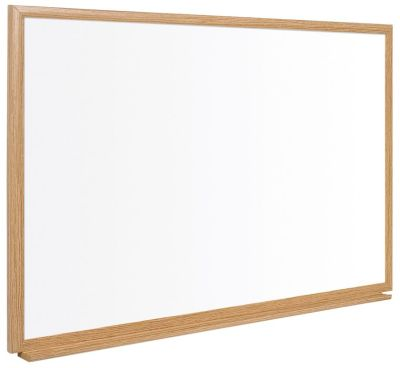ET Executive Whiteboard With A Ligt Oak Frame