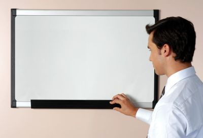Pro-vision Whiteboard With Black Upright