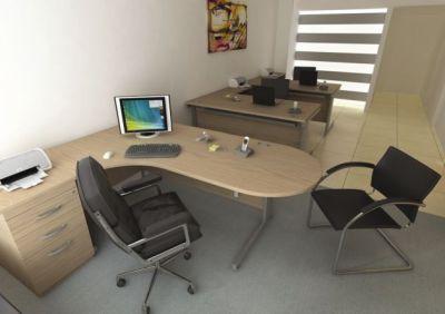 Avalon Management Corner Desk