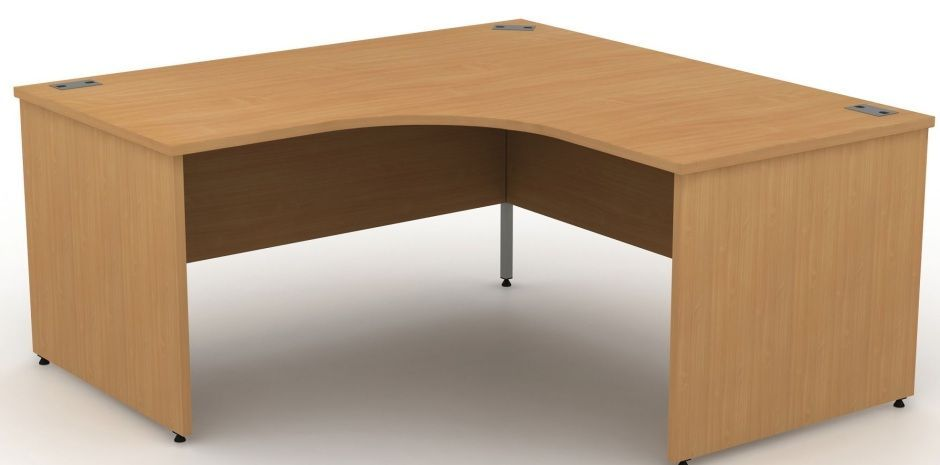 Extra large corner desks with panel sides avalon for Huge corner desk