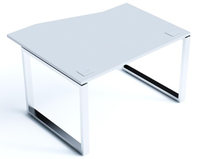 Avalon Plus Wave Desk With A Light Grey Slidng Top