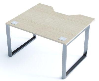 Avalon Double Wave Bench Sliding Desk With A Light Oak Top