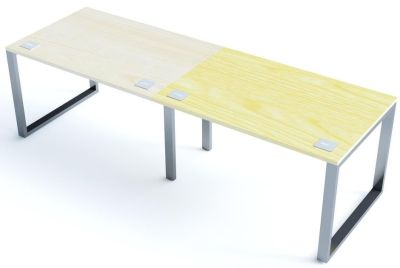 Avalon Plus Two Person Side By Side Bench Desk With Sliding Maple And Ash Tops