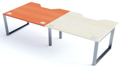 Avalon Plus Two Person Side By Side Bench With Sliding Ash And Champagne Tops