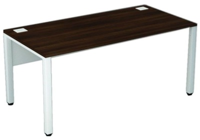 Avalon Bench Desk Walnut Top And White Frame