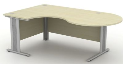 Avalon Plus Left Hand Corner Desk With Round Meeting End