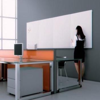 Eco Frameless Tile Whiteboard Install Shot