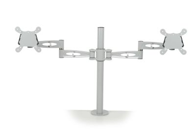 Matal Dual Monitor Arm In White