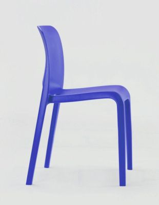 POP Royal Blue Plastic Hall Seat