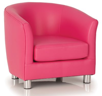 Tritium Pink Faux Leather Tub Chair