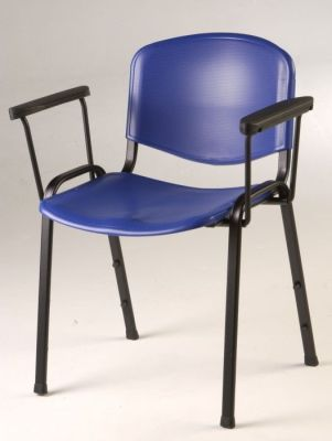 Tommy Dark Blue Meeting Chair With Added Arm Rests