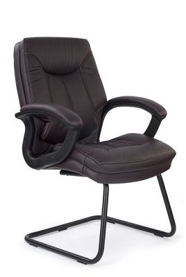 Thor Luxury Burgundy Leather Visitor Cantilever Chair