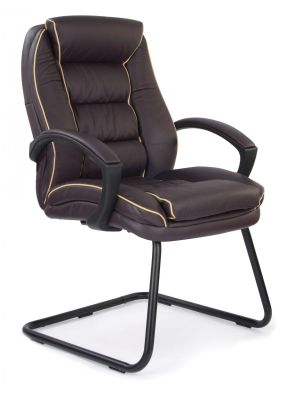 Fredo Luxury Burgundy Conference Chair With Padded Armrests