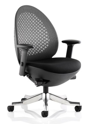 Ovum Designer Chair With Charcioal Mesh And Black Frame